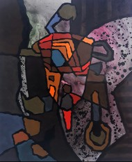Everyday - 3 by Sanket Sagare, Abstract Painting, Acrylic on Canvas, Baltic Sea color