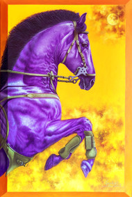 Unstoppable.... by sanket sawant, Photorealism Painting, Acrylic on Canvas, Saffron color
