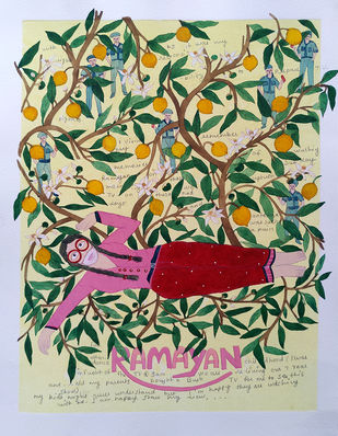 Jo jahan hein wahin rahe by Sonal Varshneya, Expressionism Painting, Watercolor on Paper, Plantation color