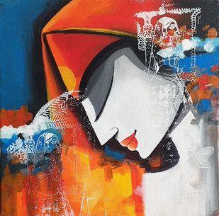face2 by pradeesh k raman, Traditional Painting, Acrylic on Canvas, Rhino color