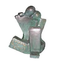 Moment by Sheela Chamariya, Art Deco Sculpture | 3D, Bronze, Woodsmoke color
