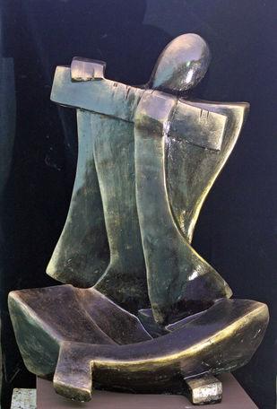 Sound of Music by Sheela Chamariya, Art Deco Sculpture   3D, Fiber Glass,