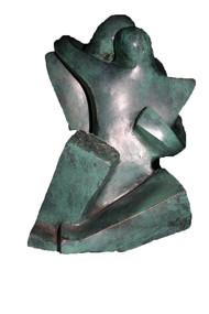 Stolen Moment by Sheela Chamariya, Art Deco Sculpture   3D, Bronze, Nobel color