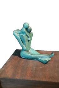 Unconditional Love by Sheela Chamariya, Art Deco Sculpture | 3D, Bronze, Woodsmoke color