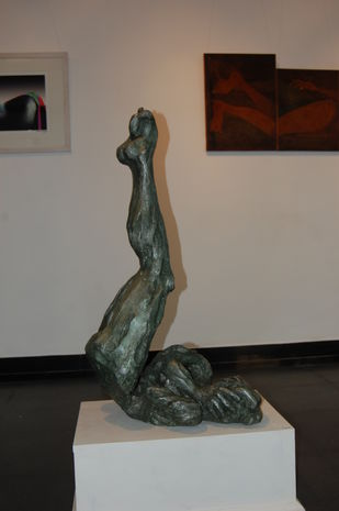 i feel shy by Sushank Kumar, Art Deco Sculpture | 3D, Fiber Glass, Squirrel color