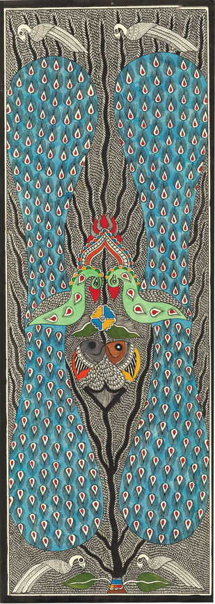Morpankh - I by Unknown Artist, Folk Painting, Acrylic & Ink on Paper,