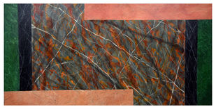 Marble by Sunil Chopra , Geometrical Painting, Acrylic on Canvas,