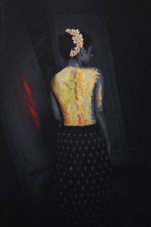 sold with gold by peaush vikram panesar, Image Photography, Mixed Media on Canvas,