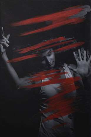my impurity is the reason for your existence by peaush vikram panesar, Image Photography, Mixed Media on Canvas,