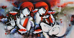 tune of love2 by pradeesh k raman, Decorative Painting, Acrylic on Canvas,
