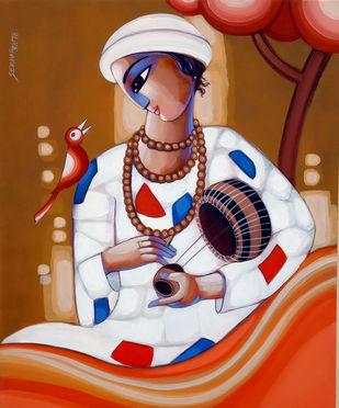 BAUL by Sekhar Roy, Decorative Painting, Acrylic on Canvas,