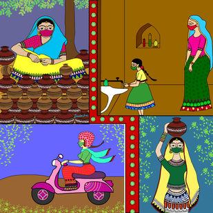 stay safe by Susmita Mishra, Digital Digital Art, Digital Print on Archival Paper,