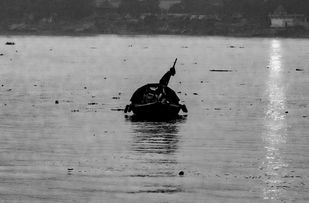 Crossing The Ganges by Sayandeep Nag, Image Photography, Digital Print on Enhanced Matt,