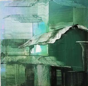 UNFRAMED by Priyanka sinha, Abstract Painting, Acrylic on Canvas, Killarney color