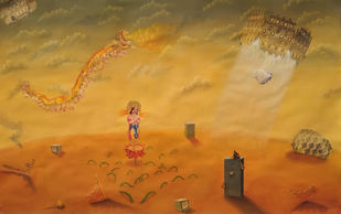 Dystopia by Arpan Ghosh, Surrealism Painting, Acrylic on Paper,