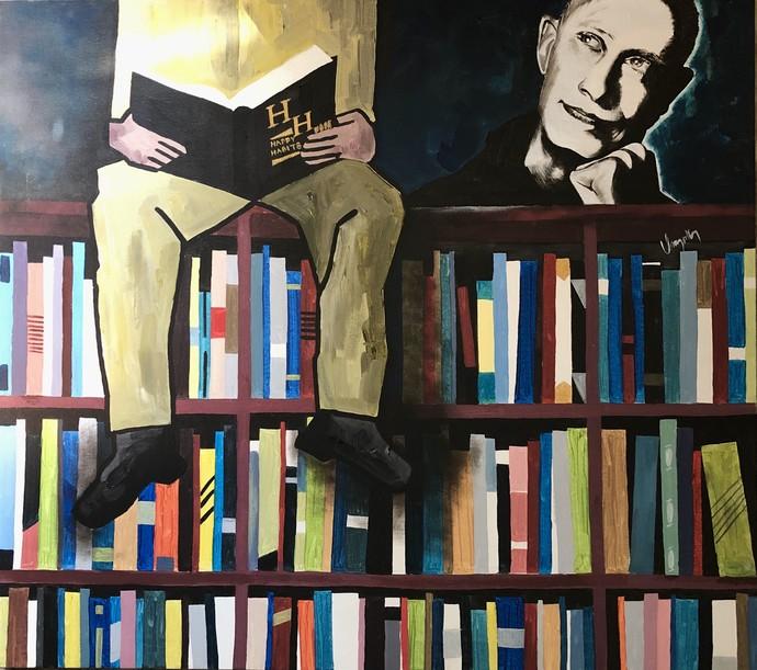 Happy Habbit by Umapathy, Pop Art Painting, Acrylic on Canvas,