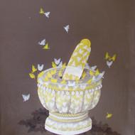 Shalini anand  okhile  mixed media on canvas  31x26 inches
