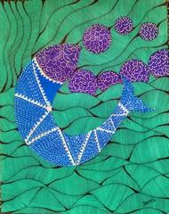 Folk Art by Taznin Rahman , Decorative Painting, Acrylic on Acrylic Sheet, Lochinvar color