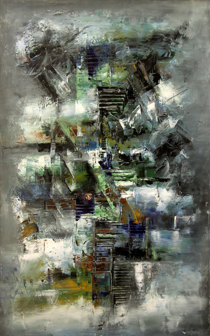 Untitled by Raju Durshettiwar, Abstract Painting, Oil on Canvas,