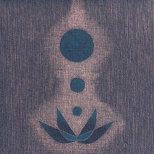 purna kumbha by Hanumantha Rao Devulapalli, Geometrical Painting, Oil on Canvas,