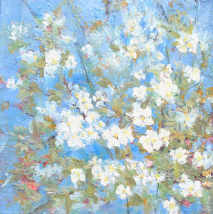 Apple Blossoms-2020 (ii) Digital Print by Animesh Roy,Expressionism
