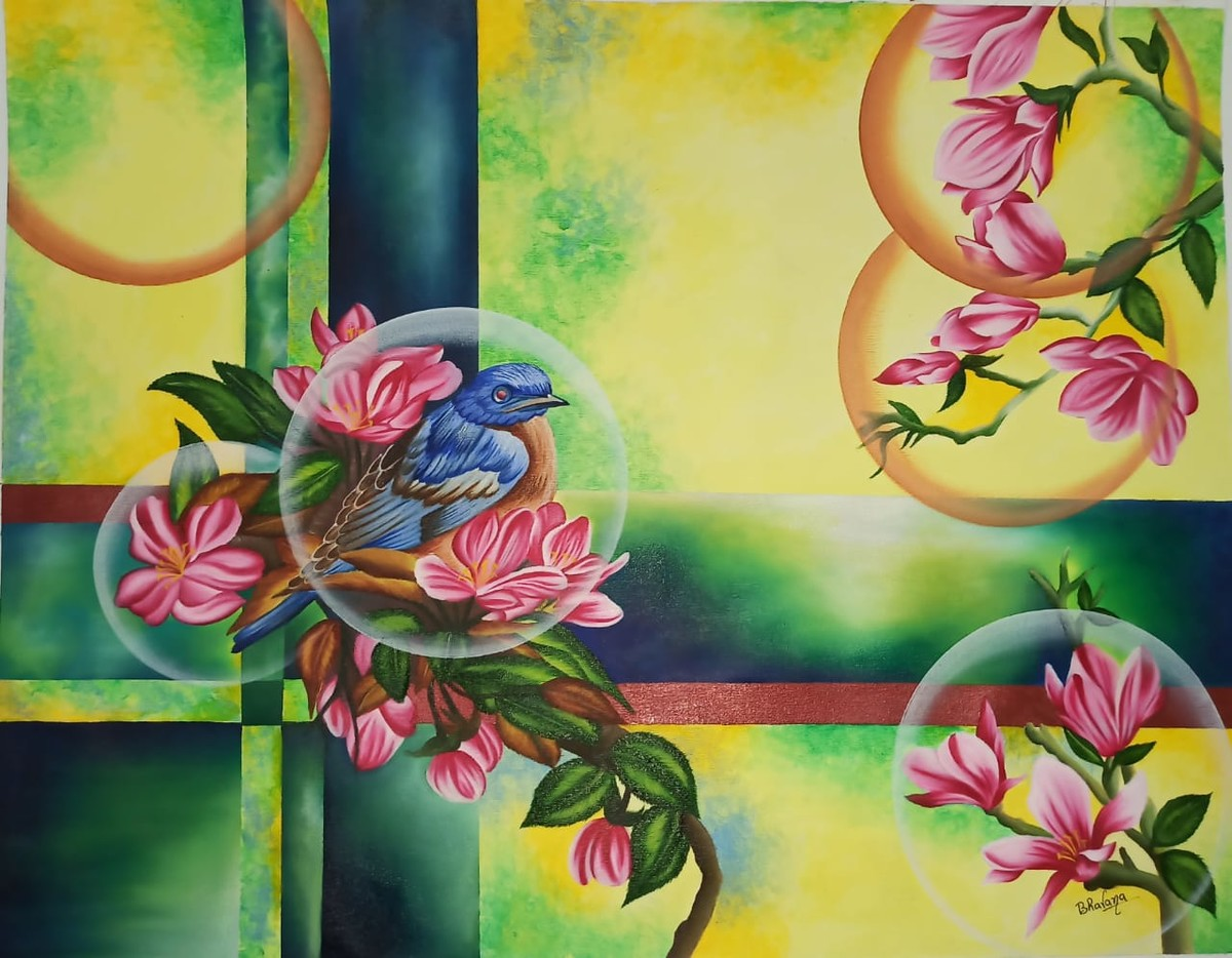 Dream Catcher by Bhavana Saxena, Expressionism Painting, Oil on Canvas,