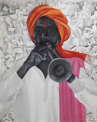 Untitled by Laxman Aelay, Expressionism Painting, Acrylic on Canvas,