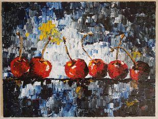 SOCIAL DISTANCING by Aparna Bhatnagar, Abstract Painting, Acrylic on Canvas,