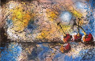 MIRAGE by Aparna Bhatnagar, Abstract Painting, Acrylic on Canvas,