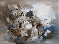 CHAOS by Aparna Bhatnagar, Abstract Painting, Acrylic on Canvas,