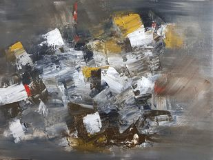 UNTITLED by Aparna Bhatnagar, Abstract Painting, Acrylic on Canvas,