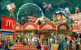 Superhero's carnival LIMITED EDITION PRINT by Sanuj Birla, Pop Art Digital Art, Digital Print on Enhanced Matt, Copper color