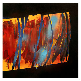 Untitled by Vidhya Sagar Upadhyay, Abstract Painting, Acrylic on Canvas, Licorice color