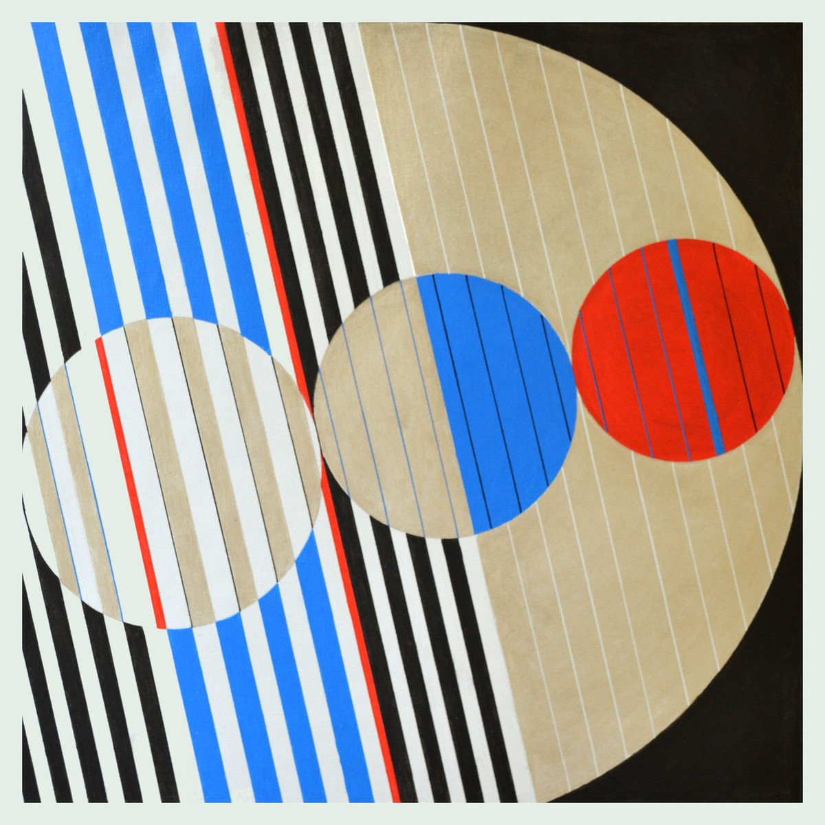 Space D - 21 by S K Sahni, Geometrical Painting, Acrylic on Canvas, Green color