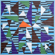 Space D - 23 by S K Sahni, Geometrical Painting, Acrylic on Canvas, Black color