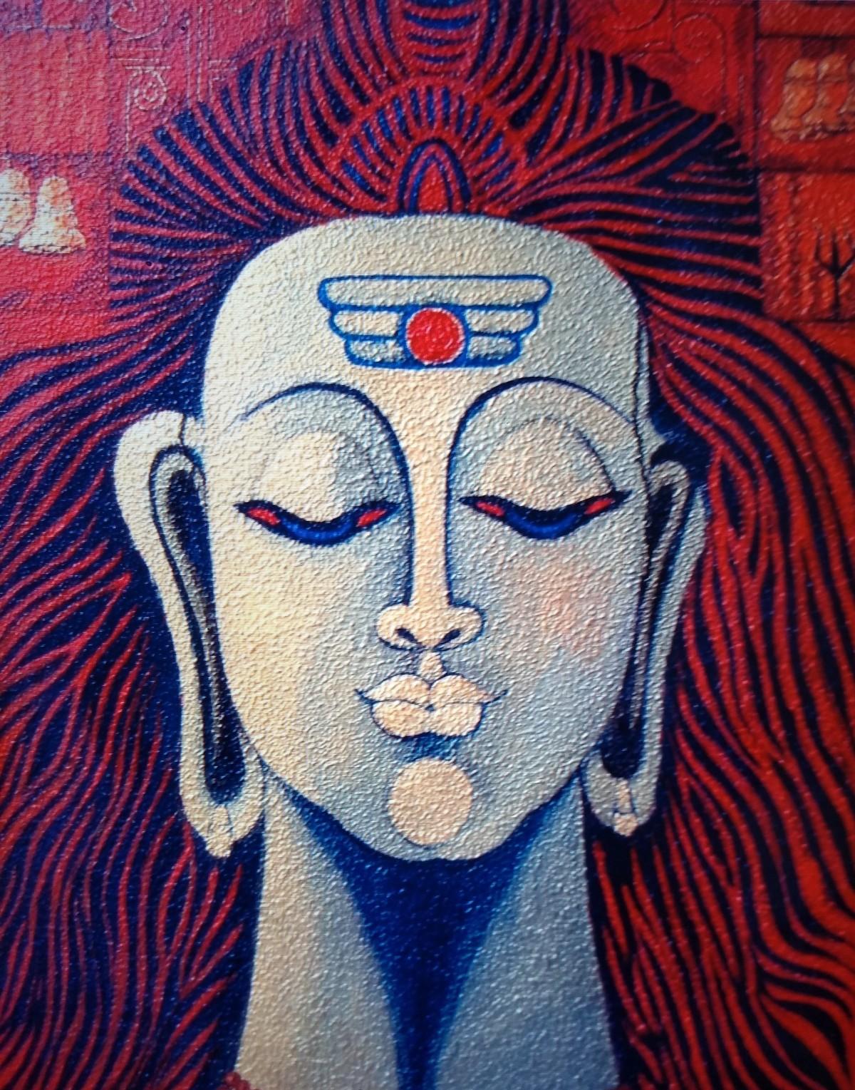 Neelkanth Digital Print by Vibha Singh,Traditional