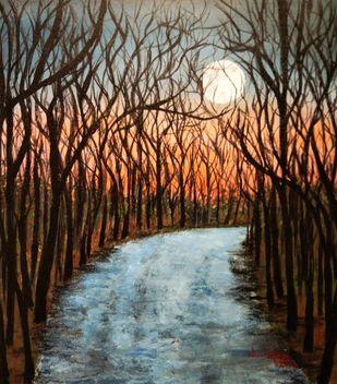 Beautiful Evening Digital Print by Nilofar Ansari,Expressionism