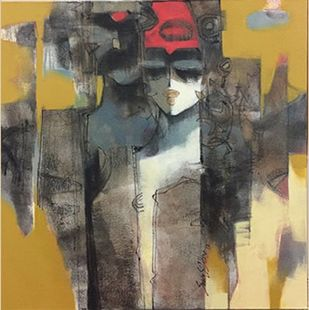 Untitled II by Sachin Jaltare, Expressionism Painting, Mixed Media on Canvas, Pablo color