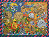 Vishwaroopa by Seema Kohli, Expressionism Serigraph, Serigraph on Paper, Gold Fusion color