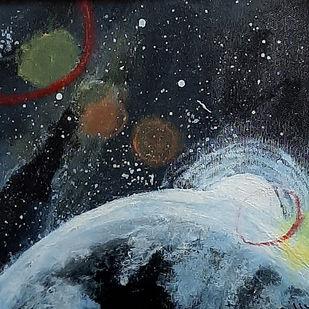 Planets Digital Print by Tejal Bhagat,Expressionism