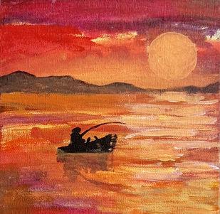 Sunset Digital Print by Tejal Bhagat,Expressionism