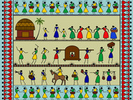 Marriage celebration by Susmita Mishra, Digital Digital Art, Digital Print on Paper, Coriander color
