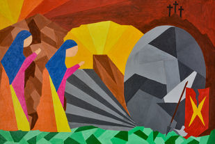 The Third Day Digital Print by Jonathan Albert,Cubism