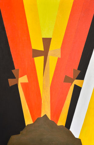 Sinner to Saint Digital Print by Jonathan Albert,Geometrical
