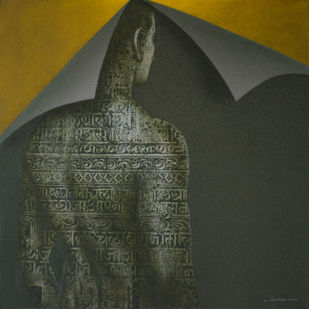 Untitled by Nilesh Ravindra Vede, Expressionism Painting, Acrylic on Canvas, Kelp color
