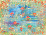 waterlillies:summer Digital Print by Cheena Madan,Abstract