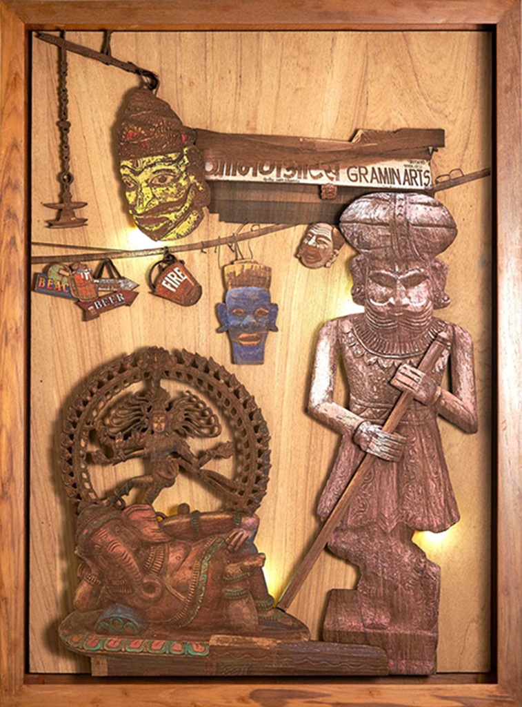 Court of Gods and Kings by SHRIRAM MANDALE, Art Deco Sculpture | 3D, Mixed Media on Wood, Cape Palliser color