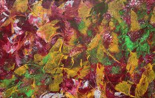 Love Talks by Seema Kaushik, Abstract Painting, Acrylic on Canvas, Cape Palliser color