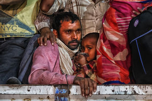 Migrant (series) by T. Narayan, Image Photography, Epson Matt paper,