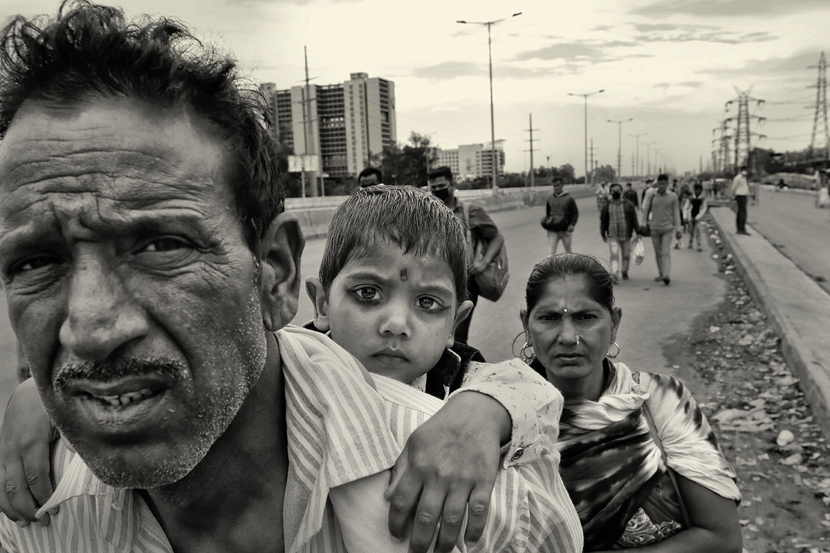 Migrant-2 (series) by T. Narayan, Image Photography, Epson Matt paper, Merlin color